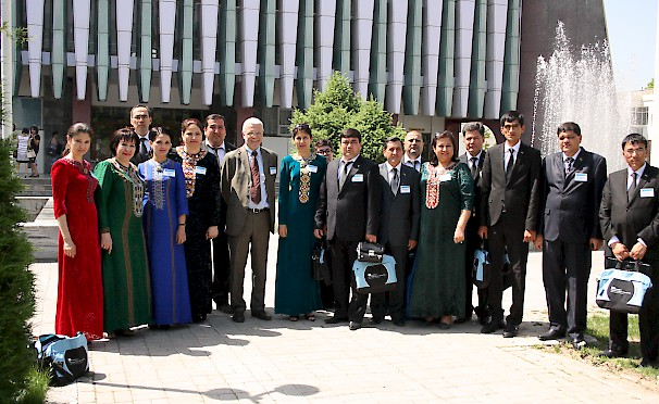 Erasmus+ Conference, Turkmen Delegation in Tashkent 2014